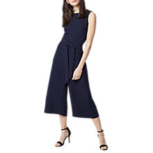 Buy Warehouse Cross Back Jumpsuit, Navy Online at johnlewis.com