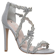Buy Carvela Goa Occasion Stiletto Sandals, Silver Online at johnlewis.com