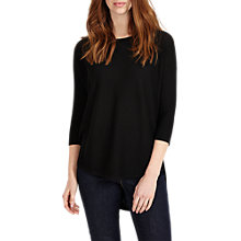Buy Phase Eight Megg Curve Hem Jumper, Black Online at johnlewis.com