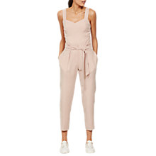 Buy Mint Velvet Belted Tapered Trousers, Pink Blossom Online at johnlewis.com