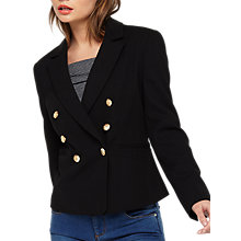 Buy Miss Selfridge Military Jacket, Black Online at johnlewis.com