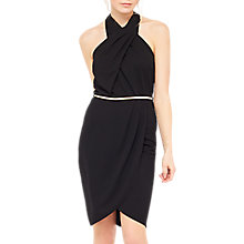 Buy Miss Selfridge Twist Halter Dress, Black Online at johnlewis.com