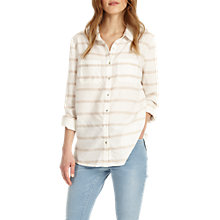 Buy Phase Eight Elspeth Stripe Shirt, Ivory/Stone Online at johnlewis.com
