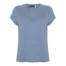 Buy Mint Velvet V-Neck T-Shirt, Light Blue Online at johnlewis.com