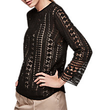 Buy Gerard Darel Colby Blouse, Black Online at johnlewis.com