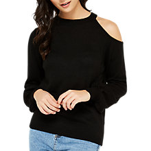 Buy Miss Selfridge Cut Out Top, Black Online at johnlewis.com