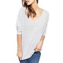 Buy Miss Selfridge Stripe Longline Top, Multi Online at johnlewis.com