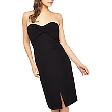 Buy Miss Selfridge Twist Bandeau Dress, Black Online at johnlewis.com
