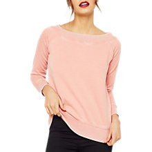 Buy Miss Selfridge Bardot Sweatshirt, Coral Online at johnlewis.com