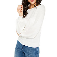 Buy Miss Selfridge Heart Pointelle Jumper, Cream Online at johnlewis.com