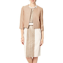 Buy Phase Eight Livvy Textured Jacket, Latte Online at johnlewis.com