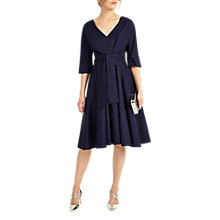 Buy Phase Eight Taylor Tie Front Dress, Navy Online at johnlewis.com