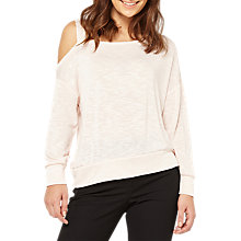 Buy Miss Selfridge Asymmetric Top, Pink Online at johnlewis.com