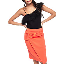 Buy Miss Selfridge Knot Front Midi Skirt Online at johnlewis.com