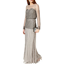 Buy Phase Eight Collection 8 Enya Full Length Dress, Silver Online at johnlewis.com
