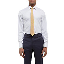 Buy Jaeger Herringbone Cotton Regular Fit Double Cuff Shirt, White Online at johnlewis.com
