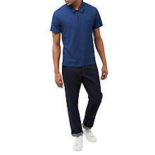 Buy Jaeger Jersey Pique Polo Shirt, Indigo Online at johnlewis.com