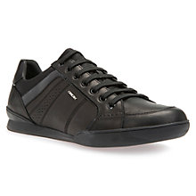 Buy Geox Kristof Trainers, Black Online at johnlewis.com