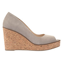 Buy Mint Velvet Gianna Wedge Heeled Sandals, Grey Online at johnlewis.com