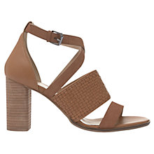 Buy Mint Velvet Amanda Block Heeled Sandals, Tan Online at johnlewis.com
