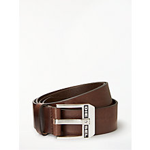 Buy Diesel Bluestar Cintura Leather Belt, Brown Online at johnlewis.com