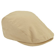 Buy Barbour Finnean Cotton Flat Cap, Stone Online at johnlewis.com