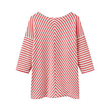 Buy Joules Odessa Zip Back Sweatshirt, Rose Stripe Online at johnlewis.com