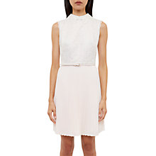 Buy Ted Baker Lace Collared Dress, Ivory Online at johnlewis.com