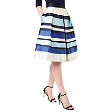 Buy Precis Petite Jeff Banks Stripe Skirt, Blue/Multi Online at johnlewis.com