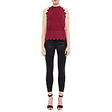 Buy Ted Baker Annna Wax Finish Skinny Jeans, Black Online at johnlewis.com