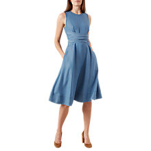 Buy Hobbs Kathy Twitchill Dress, Blue Online at johnlewis.com