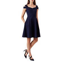 Buy Hobbs Amy Dress, Light Navy Online at johnlewis.com