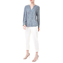 Buy Precis Petite Jeff Banks Printed Blouse, Blue/Multi Online at johnlewis.com