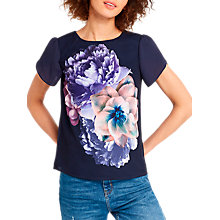 Buy Oasis Petal Sleeve T-shirt, Multi Online at johnlewis.com