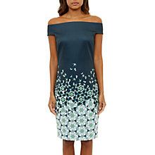 Buy Ted Baker Amahlia Kaleidoscopic Swallow Bardot Dress, Dark Blue Online at johnlewis.com
