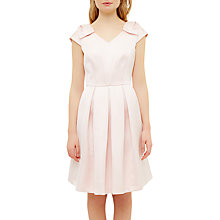 Buy Ted Baker Poliee Bow Detail Pleated Dress, Baby Pink Online at johnlewis.com