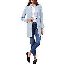 Buy Hobbs Camellia Coat, Pale Blue Online at johnlewis.com