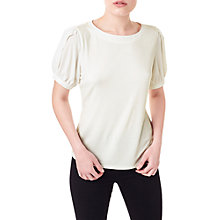 Buy Precis Petite Lace Fluted Sleeve Top, White Online at johnlewis.com