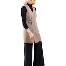 Buy Jigsaw Suede Zipped Gilet, Champagne Online at johnlewis.com