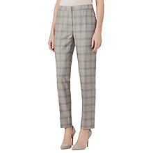 Buy Reiss Webb Slim Leg Trousers, Grey/Black Online at johnlewis.com