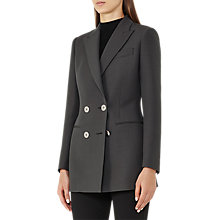 Buy Reiss Cameo Double Breasted Blazer, Grey/Green Online at johnlewis.com