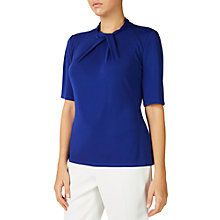 Buy Jacques Vert Twist Detail Jersey Top, Mid Blue Online at johnlewis.com