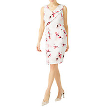 Buy Jacques Vert Printed Textured Shelf Dress, Cream/Multi Online at johnlewis.com