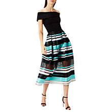 Buy Coast Sofia Stripe Print Skirt, Black/Multi Online at johnlewis.com