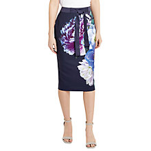 Buy Oasis Georgia Floral Print Pencil Skirt, Multi Online at johnlewis.com