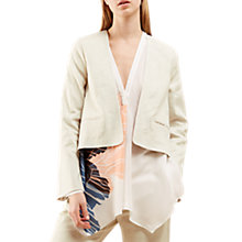 Buy Jigsaw Linen Flow Jacket, Ivory Online at johnlewis.com