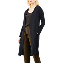 Buy Jigsaw Merino Milano Long Cardigan, Dark Navy Online at johnlewis.com