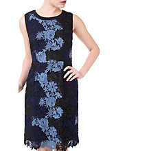 Buy Precis Petite Jeff Banks Lace Dress, Blue/Multi Online at johnlewis.com