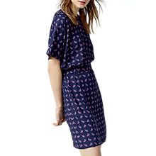 Buy Warehouse Mini Paisley Shift Dress, Blue Online at johnlewis.com