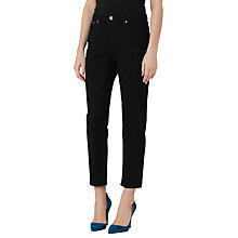 Buy Reiss Raven Straight Leg Cropped Jean, Black Online at johnlewis.com